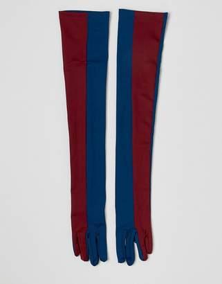 Asos DESIGN colourblocked extra long glove