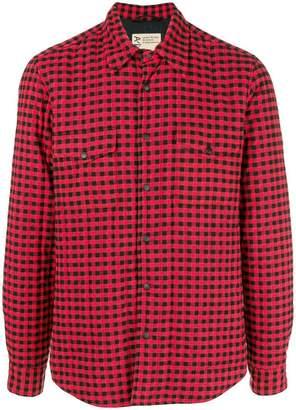 Aspesi snap button check shirt