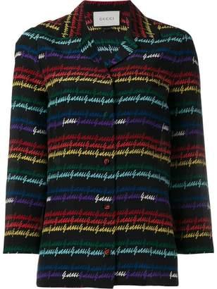 Gucci signature print pyjama shirt