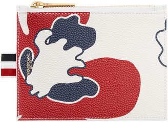 Thom Browne Tricolor Small Floral Outline Coin Purse $420 thestylecure.com