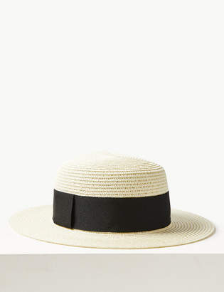 1449460cbc8e5 M S CollectionMarks and Spencer Flat Top Mid Brim Sun Hat
