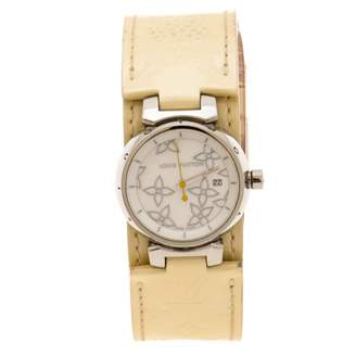 Louis Vuitton Tambour Yellow Leather Watches