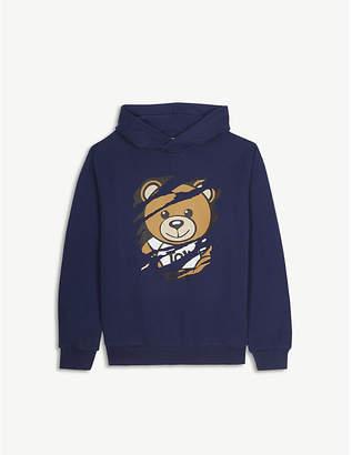 Moschino Bear-print cotton hoody 4-14 years