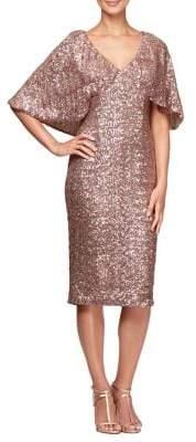 Alex Evenings Sequin Embellished Shift Dress