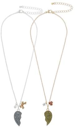 Capelli New York Set of 2 BFF Necklaces