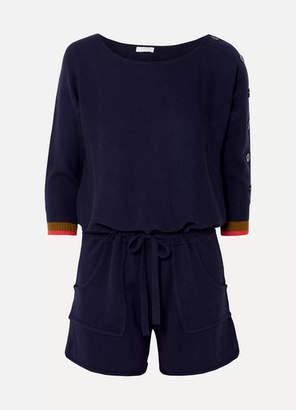 Eres Visuel Cashmere And Wool-blend Playsuit - Navy