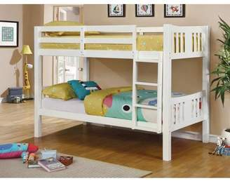 Furniture of America Sophie Twin Over Twin Wood Bunk Bed, Multiple Colors