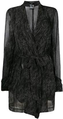 Ann Demeulemeester sheer striped tie jacket
