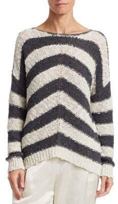 Fabiana Filippi Wide Striped Knit Sweater