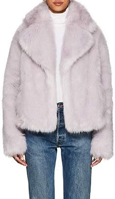 A.L.C. Women's Grant Faux-Fur Coat - Lt. Purple