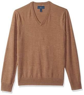 Buttoned Down Men's Italian Merino Wool Lightweight Cashwool V-Neck Sweater