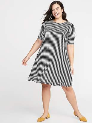 396b289bf260c Old Navy Jersey Elbow-Sleeve Plus-Size Swing Dress