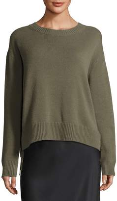 Vince Cashmere Lace-Up Pullover Sweater