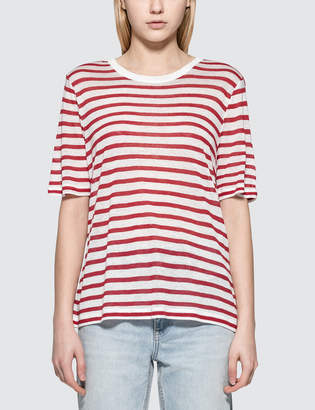 Alexander Wang Striped Slub Jersey Classic S/S T-Shirt