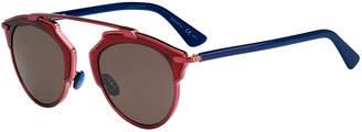 Christian Dior So Real Colorblock Sunglasses, Plum