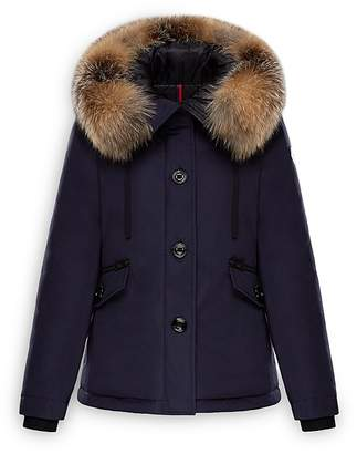 Moncler Malus Fox Fur Trim Down Parka