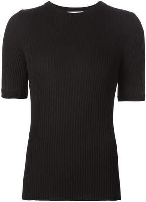Beau Souci ribbed short sleeve sweater