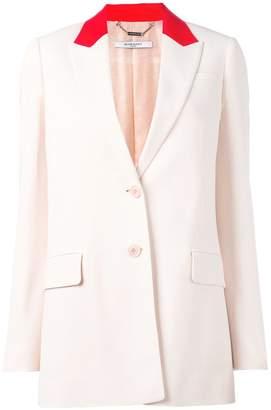Givenchy contrast collar blazer
