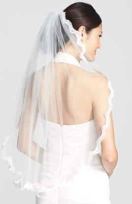 WEDDING BELLES NEW YORK 'Lola' Lace Border Veil