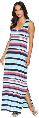 Tommy Bahama Sporting Stripe Maxi Dress Cover-Up Women's Swimwear
