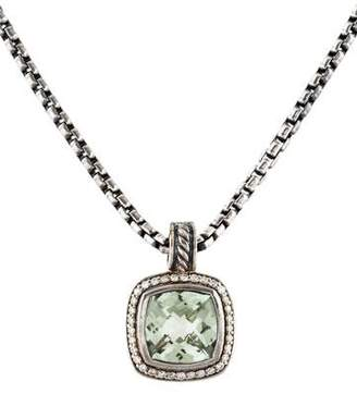 David Yurman Prasiolite & Diamond Albion Pendant Necklace