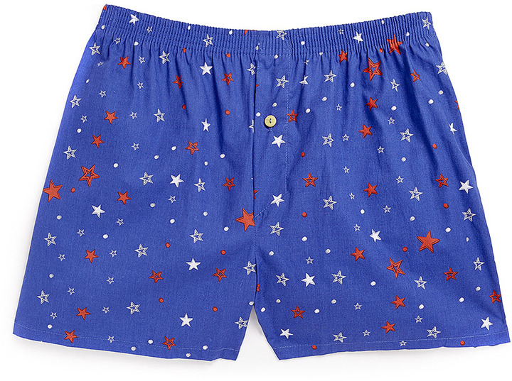 Topman Navy Star Pattern Underwear