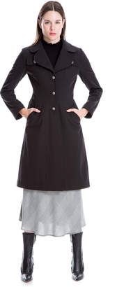 Max Studio brushed back bonded coat
