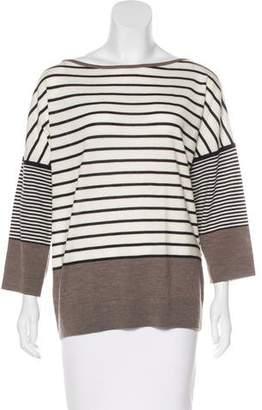 Tory Burch Striped Long Sleeve Top