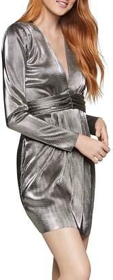 BCBGeneration Metallic Empire-Waist Dress