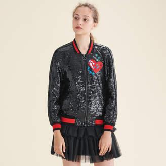 Maje Sequin varsity jacket