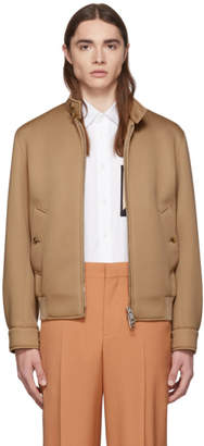 Burberry Beige Neoprene Harrington Jacket