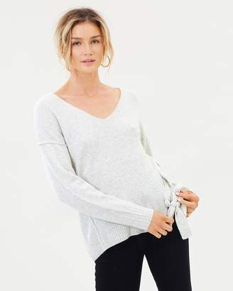 DECJUBA Alison Lace Up Knit Pullover