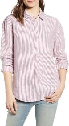 5c38c571508 Treasure & Bond Stripe Button Front Linen Tunic