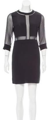 IRO Tina Silk-Paneled Dress