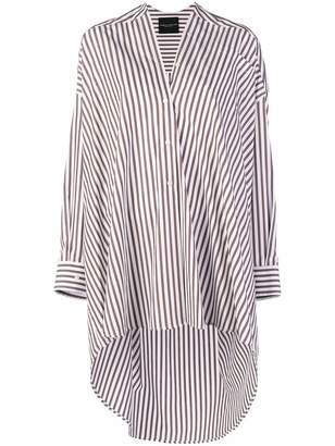 Cavallini Erika striped asymmetric shirt dress