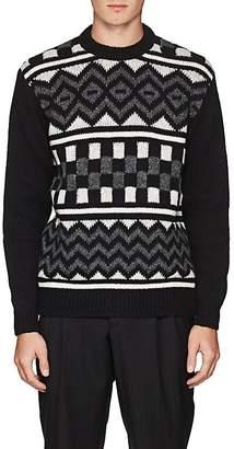 Prada Men's Geometric-Pattern Virgin Wool Sweater