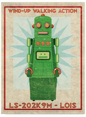 """John W. Golden 'Lois Box Art Robot' Canvas Art - 18"""" x 24"""""""