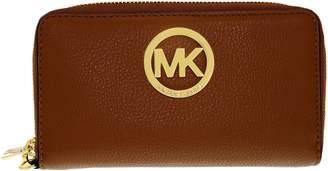 Michael Kors Women's Fulton Leather Phone Case Leather Wristlet Baguette