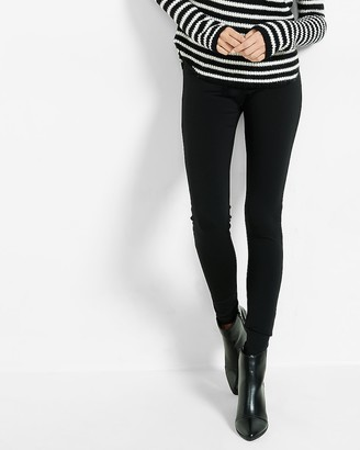 Express Mid Rise Ponte Pull On Leggings