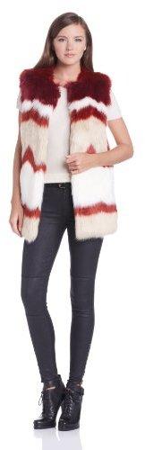 Maison Scotch Women's Fake Fur Sleeveless Coat