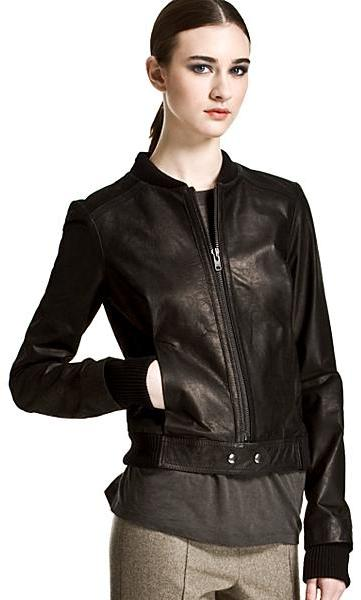 Proenza Schouler Leather Bomber Jacket