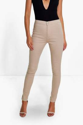 boohoo High Rise Tube Jeans