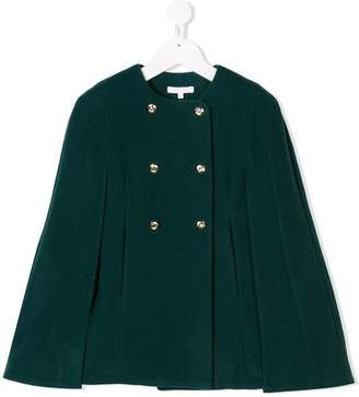 Chloé Kids double-breasted cape