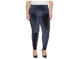 Hue Plus Size Wide Waistband Velvet Leggings Women's Casual Pants