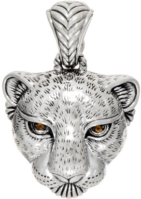 Jai JAI Sterling Silver Leopard Head Enhancer, 13.21g