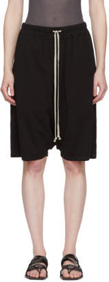 Rick Owens Black Pods Knee-Length Shorts