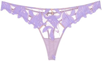 Fleur Du Mal Lily embroidered thong