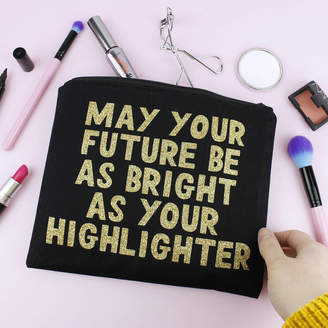 Nell Elsie & 'May Your Future Be As Bright...' Makeup Bag