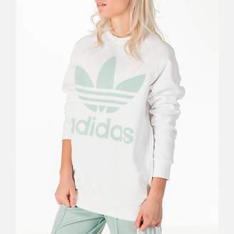 adidas Women's Oversized Trefoil Crew Sweatshirt