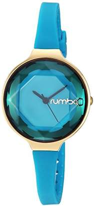 RumbaTime Women's 'Orchard Gem 30mm' Quartz Gold-Tone and Silicone Casual Watch